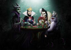 Disney baddies card game