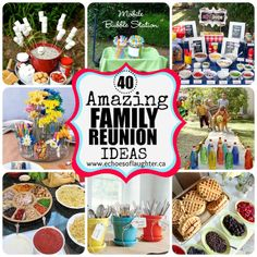 40 Amazing Family Reunion Ideas