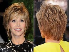 short hairstyles for women over 50 thick hair - Bing Images  Definitely NOT a Fonda fan, but love this haircut.