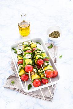 spiedini di zucchine e primosale - spiedini di zucchine - spiedini di verdure - spiedini con primosale - vegetable skewers -…