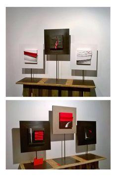Quadri da tavolo di Mauro Manco , esposti nell'atelier dell'artista a Castè