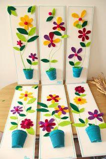 Les ateliers ARTiFun - atelier d'arts plastiques et loisirs créatifs en Guadeloupe: Un joli pot de fleurs en feutrine
