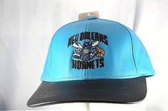 bce106c7a3a Charlotte Hornets Teal Black Leather NBA Baseball Cap Snapback USA Made   Adidas  BaseballCap