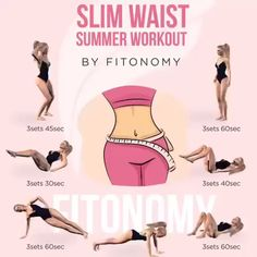 Lose your holiday-pounds & get ready for summer with this Slim Waist Workout Save and like this post so youre able to find it when you need it Tag friends who have to try this . Slim Waist Workout, Belly Fat Workout, Butt Workout, Smaller Waist Workout, Waist Training Workout, Bikini Workout, Workout Fitness, Killer Workouts, Gym Workouts