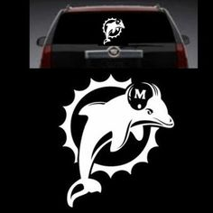 MIAMI DOLPHINS DECAL, CAR,TRUCK STICKER TRANSFER GRAPHICS.