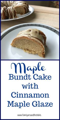 Maple Bundt cake with cinnamon maple glaze uses real maple syrup from Vermont. Maple Bundt cake with cinnamon maple glaze uses real maple syrup from Vermont. Bunt Cakes, Cupcake Cakes, Cupcakes, Just Desserts, Delicious Desserts, Baking Desserts, Fall Desserts, Yummy Food, Sweet Recipes