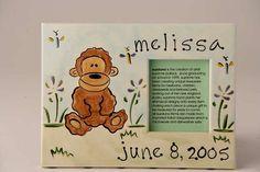 Personalized Ceramic Monkey Frame