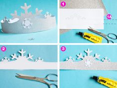 Make a crown for the ice queen costume for children: you can quickly make this cute disguise à la Elsa ice princess yourself. Instructions for the ice crystal diadem as DIY Free Printable for free dow Frozen Balloons, Mini Balloons, Photo Balloons, Frozen Themed Birthday Party, Disney Frozen Birthday, Diy Birthday, Princess Birthday, Ice Princess Costume, Ice Queen Costume