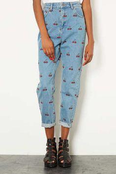 MOTO Cherry Mom Jeans