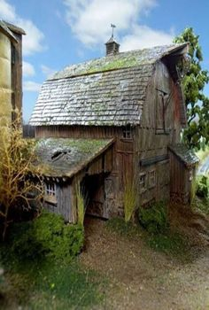 Old barn ... If only our pole barn could be designed to look like this I would be a happy girl!