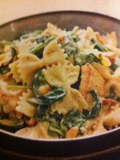 Chicken and Spinach Farfalle Stove Recipe Oven recipes done right: June 2013