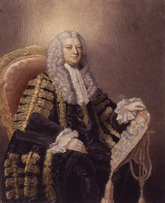 Lord Chancellor Big Wig! Philip Yorke, 1st Earl of Hardwicke, 1763,  by William Nelson Gardiner, after William Hoarewatercolour, circa 1800 (1763)