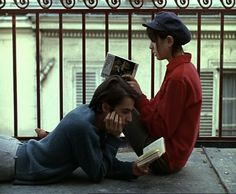 Jean-Pierre Leaud and Juliet Berto reading books Jean Pierre Leaud, Poesia Visual, Photographie Portrait Inspiration, The Love Club, Jean Luc Godard, Romance, French Films, Film Stills, Hopeless Romantic