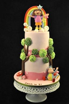 Colorful Dora Cake by Cakes and Sweets by Ee Peng