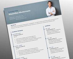 Profi Lebenslauf Vorlage mit Foto Header - Top Job Bewerbung