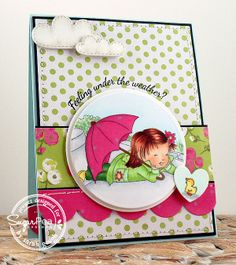 #sugarpeadesigns SugarSketch 003 - Under The Weather? Sarah Gough www.thinkingstamps.com
