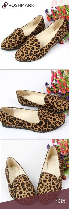 6b113465ad4 Leopard Printed Loafer Flats A must have for fall and winter seasons! Super  chic almond