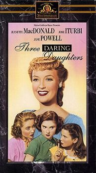 Three Daring Daughters (UK title: The Birds and the Bees) is a 1948 musical film made by MGM, and directed by Fred M. Wilcox. The screenplay was written by Albert Mannheimer, Frederick Kohner, Sonya Levien and John Meehan.