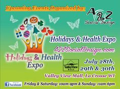 & Expo at is returning this July! Don't miss demos & more! La Crosse, Valley View, Local Events, Holidays, Health, Sunday, Wellness, Shopping, Vacations