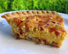 """Cracked Out Quiche ~ Blogger Plain chicken writes: """"Some of the most popular recipes on the blog are my """"crack"""" recipes - crack dip, crack potatoes & crack bread. I was trying to come up with a new quiche for dinner & decided put all of the crack flavors in it - cheese, bacon, & ranch."""""""