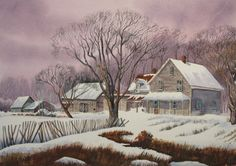 """""""The Old Homestead"""" Water color on Paper"""