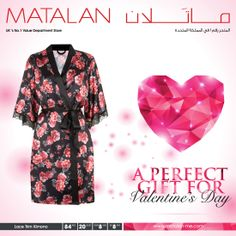Introduce a luxurious layer to your bedroom attire with the beautiful floral print kimono! Find this perfect gift for HER this #Valentine's Day only at MATALAN! Don't miss to avail our SALE further reduced to 75% discount on selected items! Hurry & visit the store near you! www.matalan-me.com