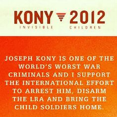 Completely into this. Organization with an incredible message & goal. Kony 2012.