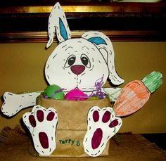 "PaasMandje ""Stitches, the Bunny"" Basket"