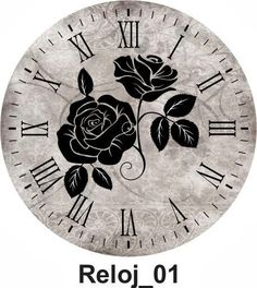 Clock----black rose, very nice.                                                                                                                                                     More