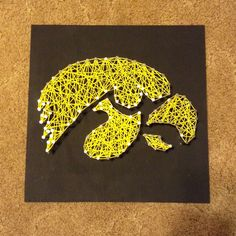 Iowa Hawkeye String Art I made for my brother