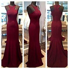 Off Shoulder Burgundy Prom Dresses,Elegant Sleeveless Burgundy 2017 prom Dresses Mermaid prom Dresses Floor Length Zipper Back