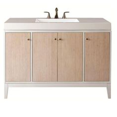 Home Decorators Collection Melbourne 49 in. W x 35 in. H Vanity in White with Marble Vanity Top in White