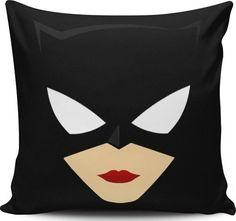 almofadas, mulher gato, decoração de interiores, design, design de interiores, decoração, sala- cozinha, casa e jardim, super herois, batman, os vingadores, liga da justiça, harleyquinn - Almofadinhas