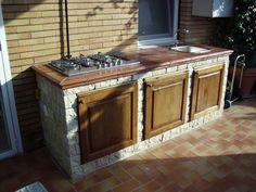 Cucine Esterne Da Giardino In Muratura : Creazione di una cucina in ...