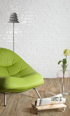 Tiling Inspiration: Beaumont Tiles' Argila White Better Than Vintage handmade-look subway tile for indoor styling