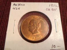 5 centavos mexico 1952 BU choice red by DrewsCollectibles on Etsy, $6.99