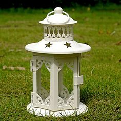 White Classic Hollow-out Lantern – USD $ 14.99