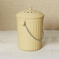 [REGALADA. GRACIAS!] Compostera de ecofibra de bamboo de West Elm $18500 (US$36.95)