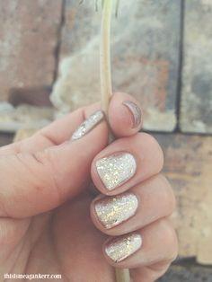 Rose Gold glitter nails using Artistic Colour Gloss Glamorous over Goddess