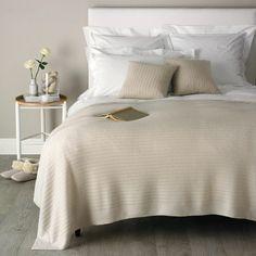 Cashmere Rib Throw - Bedspreads & Cushions