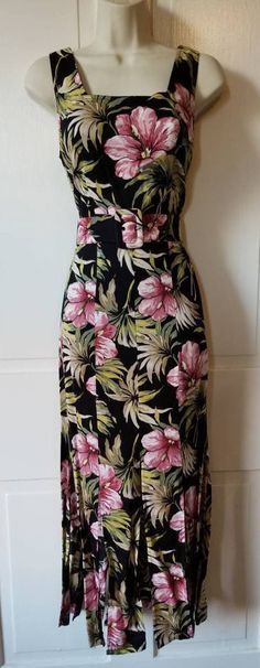 FLORAL PRINT 90's DRESS // All That Jazz Deadstock New Old