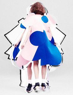 The Comme Line for Pop Magazine  Mel Bles - Photographer  Vanessa Reid - Fashion Editor/Stylist  Maarit Niemela - Hair Stylist  Ayami Nishimura - Makeup Artist  Franzi Mueller - Model