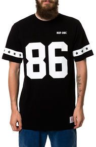 HUF The 5 Star Football Jersey in Black