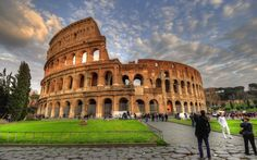 The Colosseum in Rome, Italy--the largest amphitheatre in the world. I want to be there eating gelato right now!