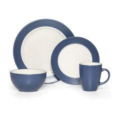 Crafted of stoneware. 32 piece dinnerware set, service for eight, includes (8) each: 10-1/2 inch dinner plate, 7-1/2 inch salad plate, 5-1/2 inch diameter x 2-3/4 inch high...