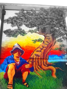 Open Air Museum - In San Miguel, Santiago, Chile - Street Art Utopia Urban Street Art, 3d Street Art, Street Art Graffiti, Street Artists, Urban Art, Graffiti Painting, 3d Painting, Chile, Scandi Art