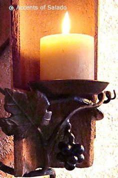 Wall Mount Iron Candle Holder