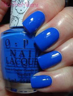 opi My Pal Joey is a vibrant blue cream