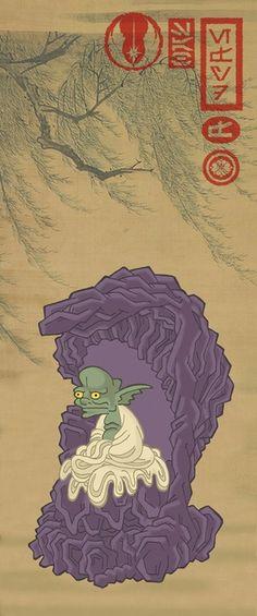 Yoda Star Wars Samurai Art