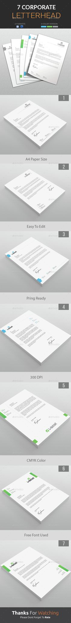 Company #Letterhead Template is an awesome letterhead design suitable for…                                                                                                                                                     More